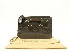 Louis Vuitton Authentic Monogram VERNIS Vert Bronze Key Chain Coin Purse Wallet