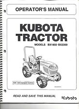 Kubota BX1850, BX2350 Tractor+Loader Operator Manuals (set of 2)