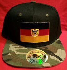 GERMAN Flag Camo Cap Flat Bill Snapback Germany Flag