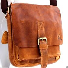 Genuine Natural Leather Men Shoulder Messenger Water Proof Handmade Bag Davis