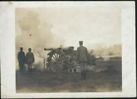 WW1 ARTILLERY ACTION FRONT CANNON NICE SCENE ANTIQUE PHOTO RPPC POSTCARD