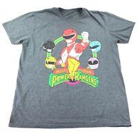 Power Rangers Mens Short Sleeve Graphic T Shirt Top Gray Size XL