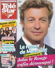 Télé Star N°1926 - 26/08/2013 - Simon Baker - Mentalist - Lady Diana - Lady Gaga