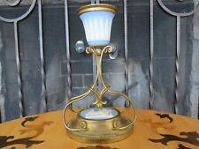 "Elegant Antique Wedgwood Blue Jasper Ware Mounted Ormolu 6"" Candle Stick Holder"