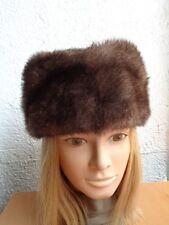 NEW SHOWROOM CANADIAN LUTETIA MINK FUR HAT CAP CLOTH TOP WOMEN WOMAN SZ ALL