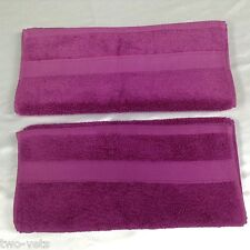 "2 TOWELS CANNON 100% COTTON TOWELS 16"" x 29"" PURPLE SOFT PLUSH  FREE SHIPPING"