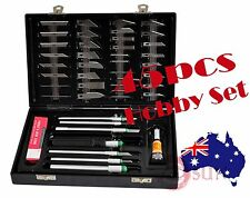 45PC MINI HOBBY KNIFE SET WITH CASE EXACTO BLADES KIT FOR CARVING AND WHITTLING