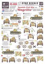 Star Decals 1/35 SPANISH CIVIL WAR #3 NEGRILLO Panzer I Tanks