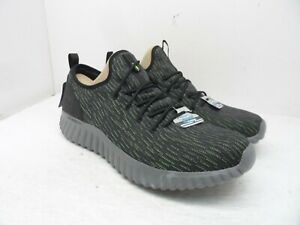 Skechers Men's Depth Charge 2.0 Lace-Up Athletic Sneakers Black/Green Size 14M