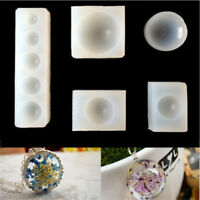 1pc Half Round Cabochon Silicon Mold Mould For Epoxy Resin Jewelry Making 3C