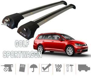 Volkswagen Golf SportWagen Roof Rack & Cross Bars Silver Color