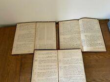 3 Handwritten New Orleans Fire Station Ledgers Hurricane Boarding Houses 1946-53