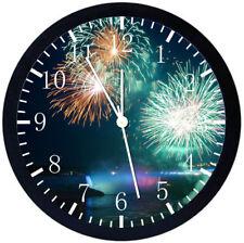 Niagara Falls Firework Black Frame Wall Clock Nice For Decor or Gifts Z85