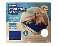 Pet Cooling Gel Mat Dogs & Cats Blue Large Mattress Heat Relief Non Toxic 90x50