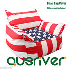 US Flag Bean Bag Cover Relaxing Beanbag Sofa Chair Seat Lounger Christmas Gift