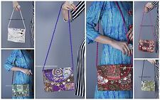 10 PC Wholesale Lot Embroidered Bag Cotton Tote Hobo Bags Crossbody Bag Purse