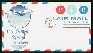 MayfairStamps US FDC Sealed 1971 10 Cent Air Mail Stamped Envelope Aviation Ande
