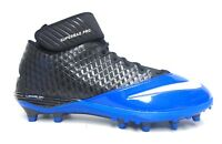 Nike Lunar Super Bad Pro TD Black and Blue Football Cleats - Size 13