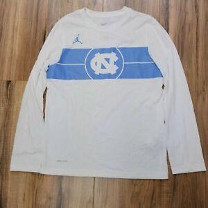Nike Dri Fit Boys Medium UNC Tarheels Jordan Long Sleeve Shirt