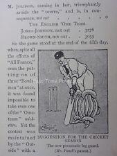 Cricket tema il nuovo pneumatico LEG GUARD ANTICO punzone CARTOON