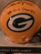 DESMOND BISHOP PACKERS SBXLV CHAMPS autographed mini helmet
