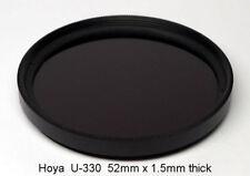 Hoya U-330 52mm x 1.5mm thk UV Bandpass Camera Filter Ultraviolet, Dual Band IR1