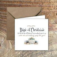 CHRISTMAS CARDS, LOCKDOWN, QUARANTINE Days of Christmas  PACK OF 5