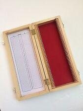 New Wooden Microscope Box 50 Slides Prepared Slide Storage Case