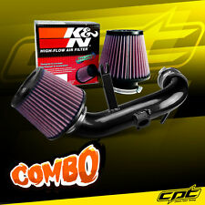 09-15 Lancer 2.4L 4cyl Automatic Black Cold Air Intake + K&N Air Filter