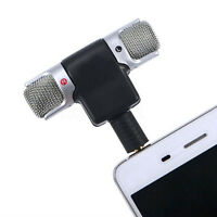 Mini Stereo Microphone Mic 3.5mm Mini for PC Laptop Notebook Phone
