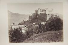 altes Foto Festung Hohen Salzburg Österreich Ansicht um 1880 Albuminpapier