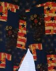 Lularoe Tc New Leggings Stars Stripes Flag Floral July 4th Patriotic America