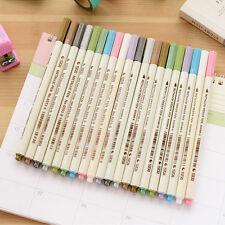 Metallic Waterproof Marker Pens Multi Colorful Ink Scrapbook Decor Card Making