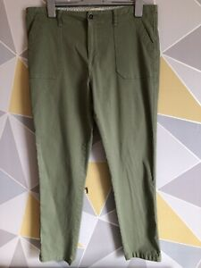 CASUAL COLLECTION BY F&F Ladies Size 16 Trousers Denim Style Sage Green VGC
