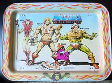 Vtg Masters of the Universe Metal TV Tray He-Man Teela Orko Man-at-Arms 1982