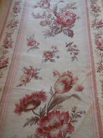 Antique French Floral Tulip Roses Cotton fabric ~Rose Pink Sage Lavender