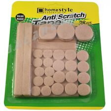 Self Adhesive Beige Felt Pads Furniture Floor Anti Scratch Protector Assorted 38