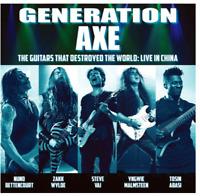 Generation Axe - Live in China Zakk Wylde Malmsteen Steve Vai Bettencourt NEU