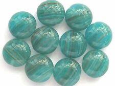 10 Cuentas checas de vidrio lentejas Verde Oscuro 13mm