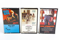 Bruce Springsteen, Cheap Trick, Billy Idol: Pop Rock Cassette Tapes Lot of 3