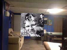 HUGE 36x36 DOC WATSON Vinyl BANNER POSTER ralph stanley BLUEGRASS Music Art! New
