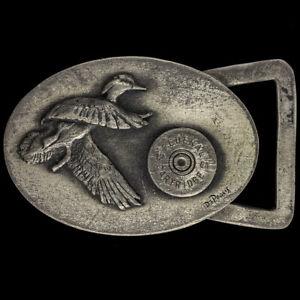 Federal Ammunition 12 Ga Bird Hunting Hunter Gift 70s Vintage Belt Buckle O112