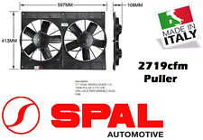 """Spal 11"""" Dual Thermo Fan Shroud Straight Blade 12v Puller 2719 29.8amps CFM New"""