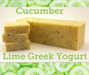 Cucumber Lime Greek Yogurt With Shea Butter Natural Soap