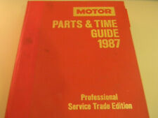 MOTOR Parts & Timing Guide 1987 Professional Service Trade Edition 59th HB Auto