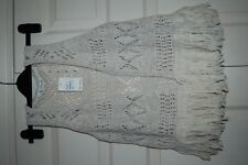 New S Miss Selfridge Open work Knitted Waistcoat Top tassels Festival