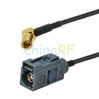 FAKRA G female to SMB female extension cable for roof mounted car DAB aerial 3m