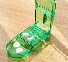 New Fashion Medicine Pill Splitter Portable Storage Box Holder Tablet Cutter Hot
