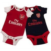Arsenal Fc 2 Pack Bodysuit Football Home & Away Kit Baby Vests 18/19 Season