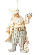 Enesco Jim Shore White Woodland Santa with Birds Ornament NIB  Item # 6001419